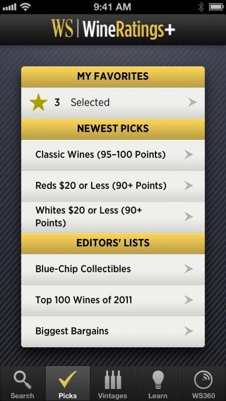 Wine Spectator WineRatings+
