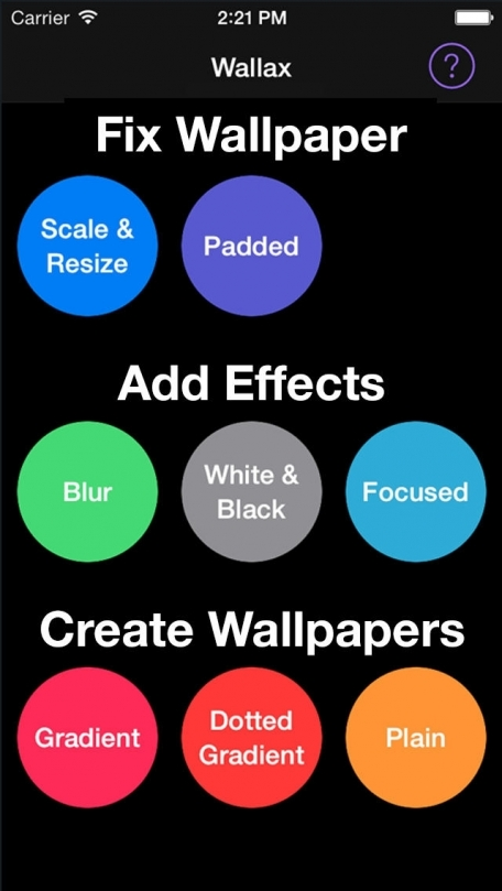 Wallax - Fix Wallpaper, Add Effects & Create Wallpapers for iOS 7 home screen, lock screen & background with your own photos