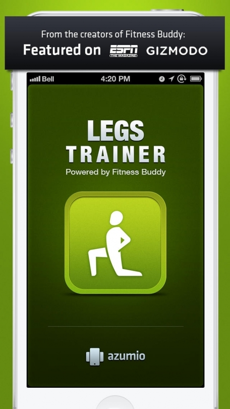Leg Trainer : 100+ leg exercises and workouts, on-the-go, home, office, travel, personal trainer powered by Fitness Buddy
