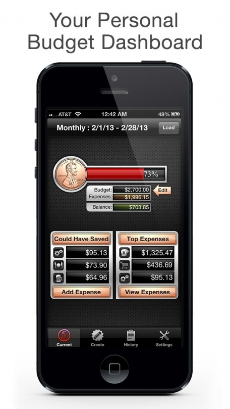 Budget Saved Personal Finance - Save money, spending tracker, bill and check book organizer and bank account manager