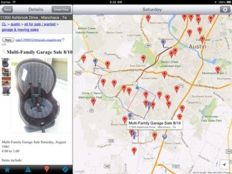 Yard Sale Treasure Map Navigation App Review IOS Free For - Garage sale treasure map