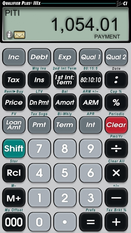 Qualifier Plus IIIx -- Advanced Residential and Commercial Investment Real Estate Finance Calculator for Agents, Brokers, Investors, Attorneys, Loan Officers and other Mortgage Industry Professionals