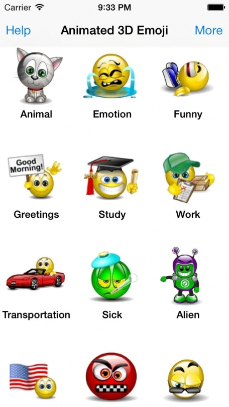 Animated 3D Emoji Emoticons - SMS Smiley Faces Stickers HD - Animoticons - FREE