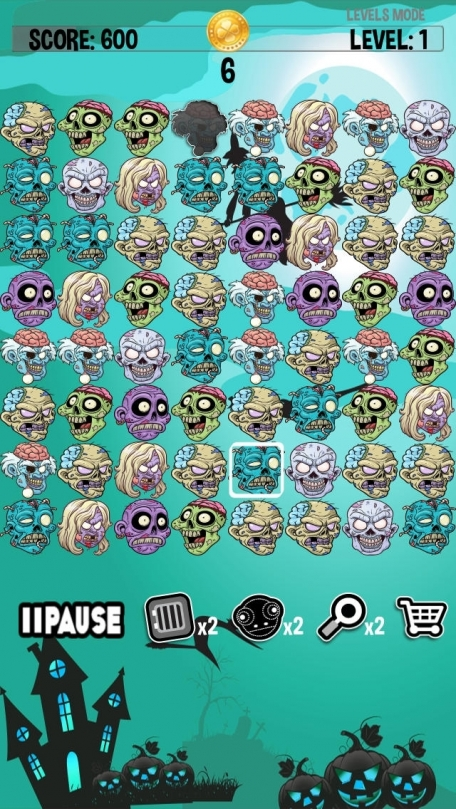Zombie Mania - Match Three Zombies - FREE Tap Puzzle Fun