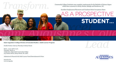 ... share information about the College's adult degree completion program.