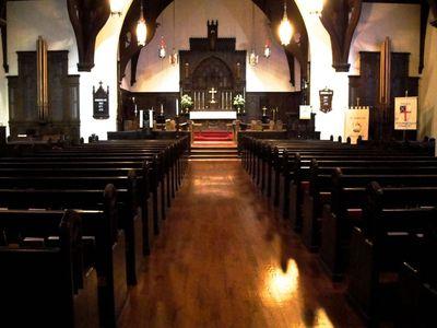 nave and Casavant organ