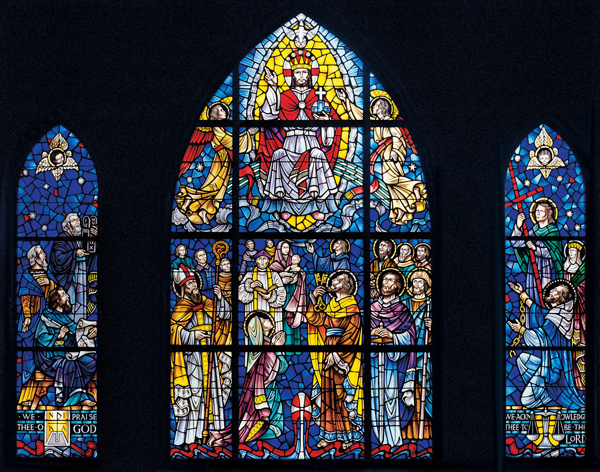 100 stained glass window stained glass window depicting pea