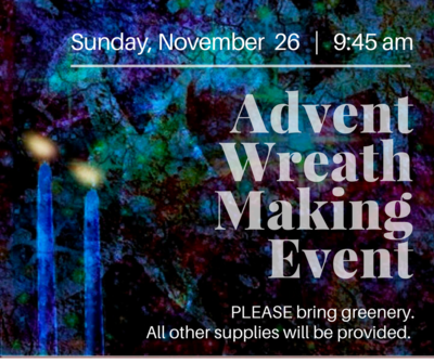 Advent wreath making 2017 bulletin graphic web