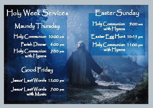 Holy Week Services 2014