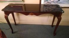 QUEEN ANNE SOFA/ ENTRY TABLE
