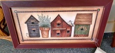 23X12 3 BIRD HOUSES PICTURE