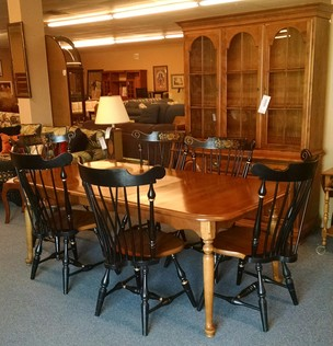 ETHAN ALLEN 11 PC DINING