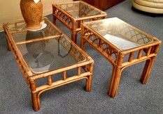RATTAN ACCENT TABLES