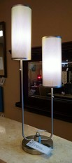 2 HEADED TABLE TOP LAMP