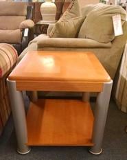 KLAUSSNER OAK TABLE METAL LEGS