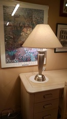 SILVER URN SHAPED LAMP