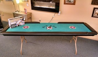 "98"" POKER TABLE AND CHIPS"