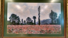 42X28 MONET FIELD OF POPPIES