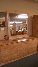 LAQUER DRESSER AND MIRROR
