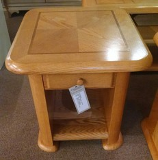 LIGHT WOOD END WITH DRAWER