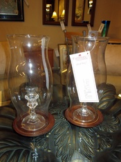 2 HURRICANE  CANDLE LAMPS