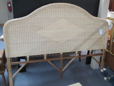 KING WICKER HEADBOARD