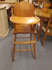 50 YEAR OLD WOODEN HIGHCHAIR