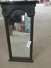 BLACK VERTICAL WALL MIRROR