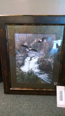 2 BALD EAGLES SOARING 25X25