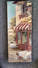 8x20 CANVAS CAFE PICTURE