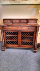 OLD WORLD LEATHER TOP DESK