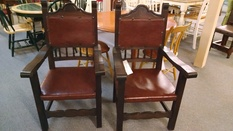 2 ORNATE ARM CHAIRS