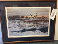 33X26 EARLY WINTER GEESE PRINT