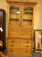 SECRETARY WITH DOUBLE HUTCH