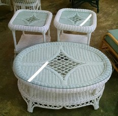 3 PACK WICKER TABLE SET