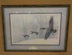 17X23 GEESE IN WINTER PICTURE