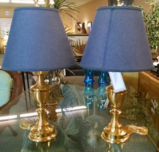 PR OF BRASS LAMPS