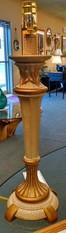 CRACKLE PAINT TROPHY LAMP