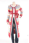 Women's American Retro Paris Mongole Sweater Coat - Small