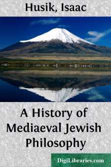 A History of Mediaeval Jewish Philosophy