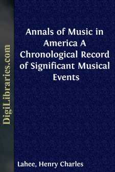 Annals of Music in America A Chronological Record of Significant Musical Events