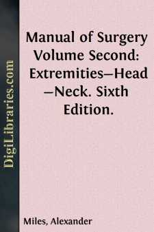 Manual of Surgery Volume Second: Extremities-Head-Neck. Sixth Edition.