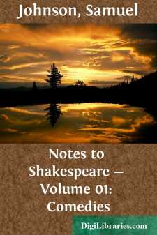 Notes to Shakespeare - Volume 01: Comedies