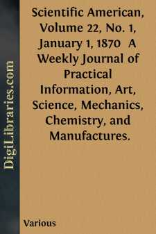 Scientific American, Volume 22, No. 1, January 1, 1870 