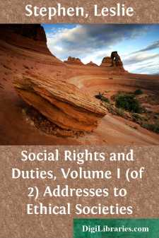 Social Rights and Duties, Volume I (of 2)