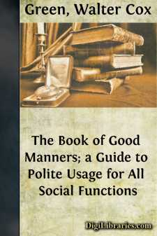 The Book of Good Manners; a Guide to Polite Usage for All Social Functions