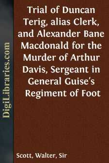 Trial of Duncan Terig, alias Clerk, and Alexander Bane Macdonald