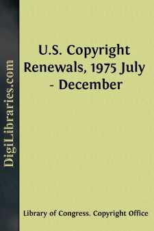U.S. Copyright Renewals, 1975 July - December