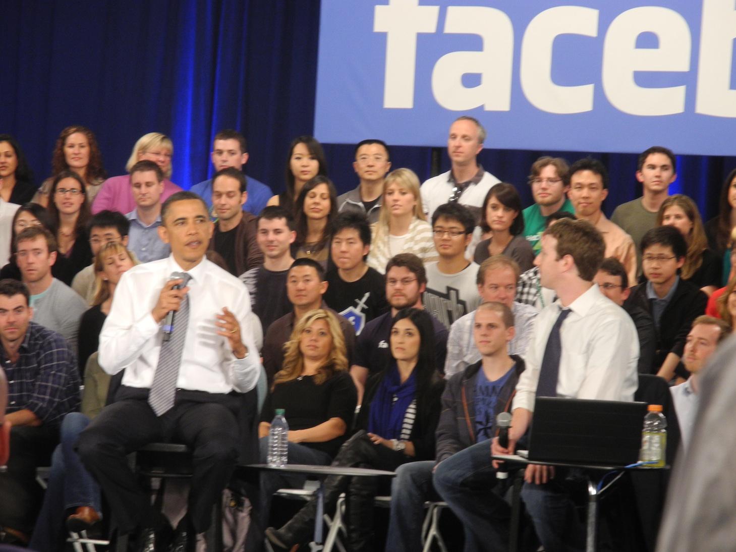 Image result for obama and facebook
