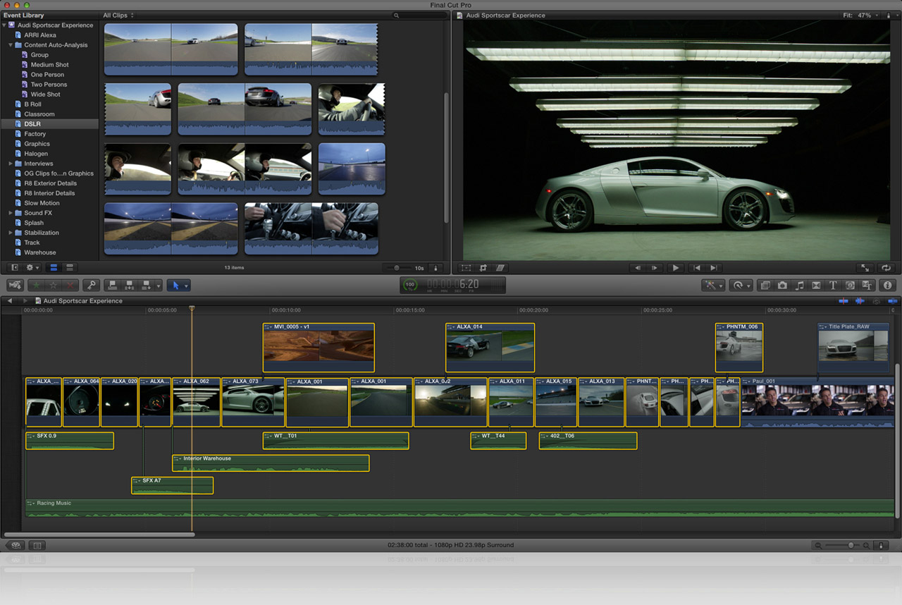 Updated version of Apple's video application Final Cut Pro ...